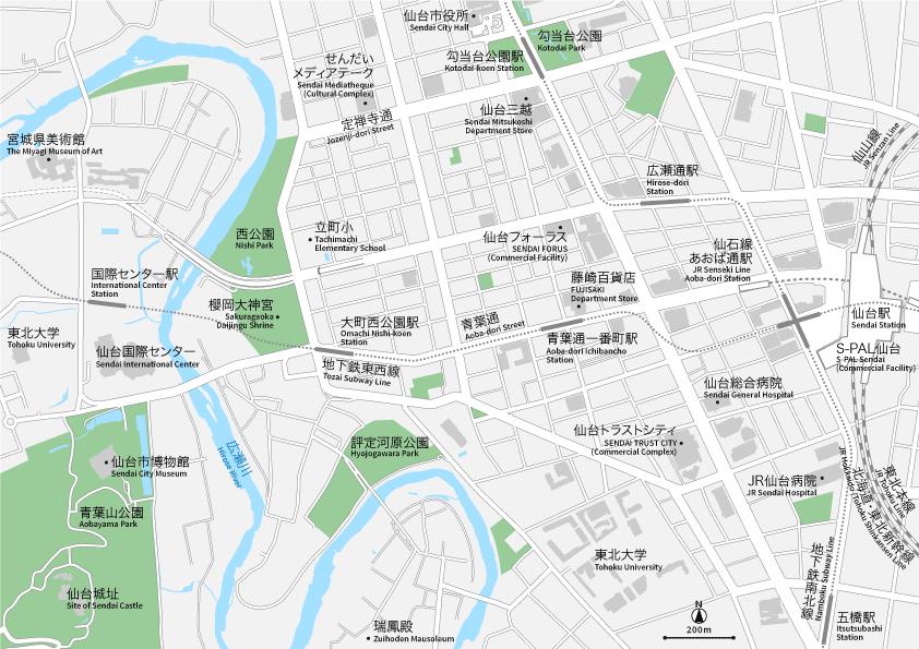 仙台 地図素材
