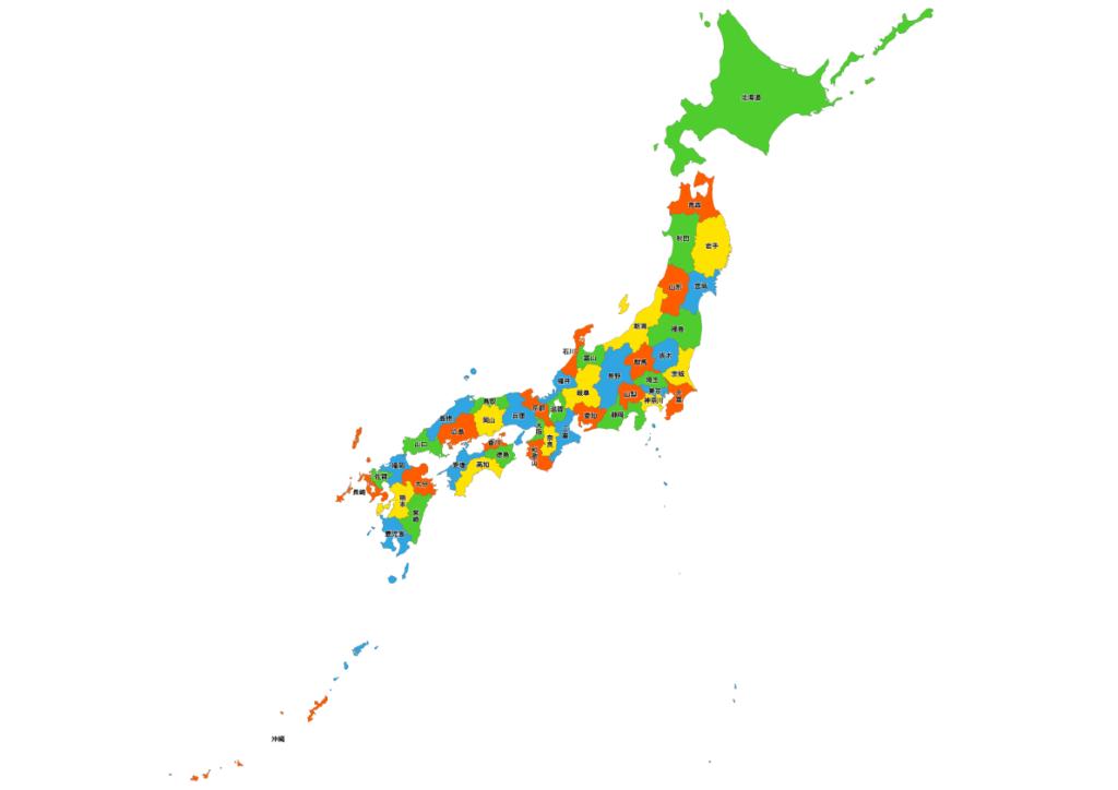 日本全図 地図素材