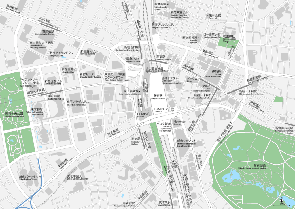 新宿 地図素材