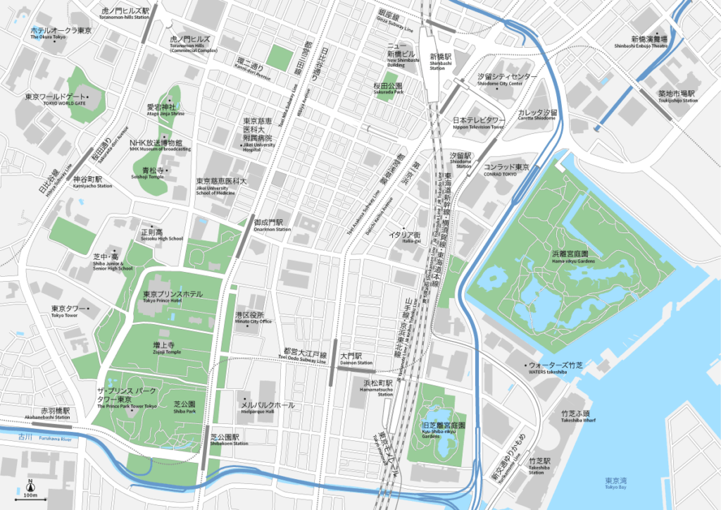 新橋・浜松町 地図素材