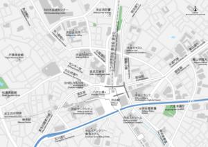 渋谷 地図素材