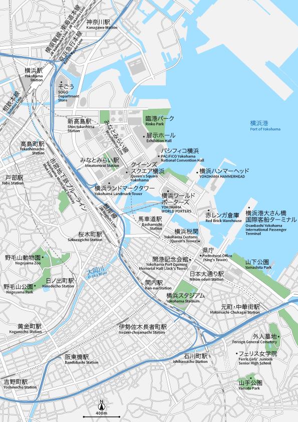 横浜 地図素材