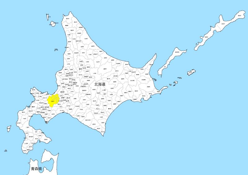 北海道 白地図 地図素材