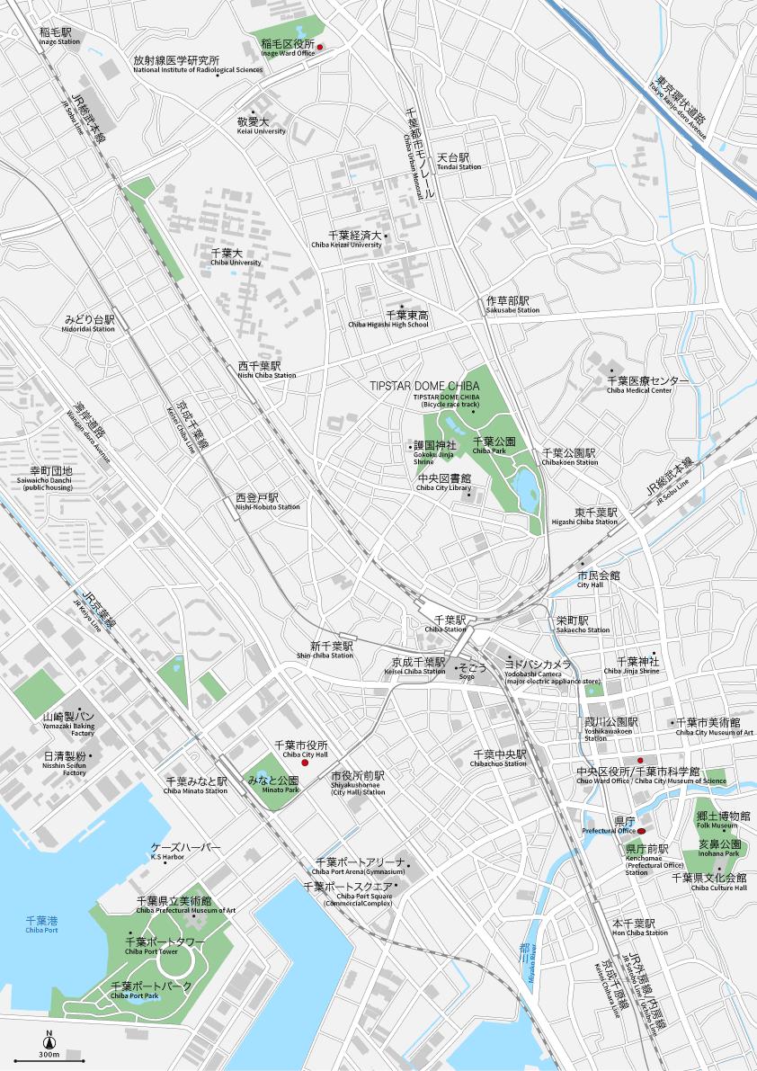 千葉駅周辺 地図素材