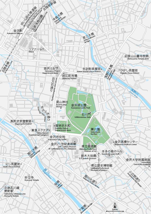金沢 地図素材