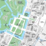 東京駅・皇居 地図素材