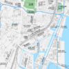田町・三田・芝浦 地図素材
