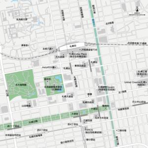 札幌 地圖素材