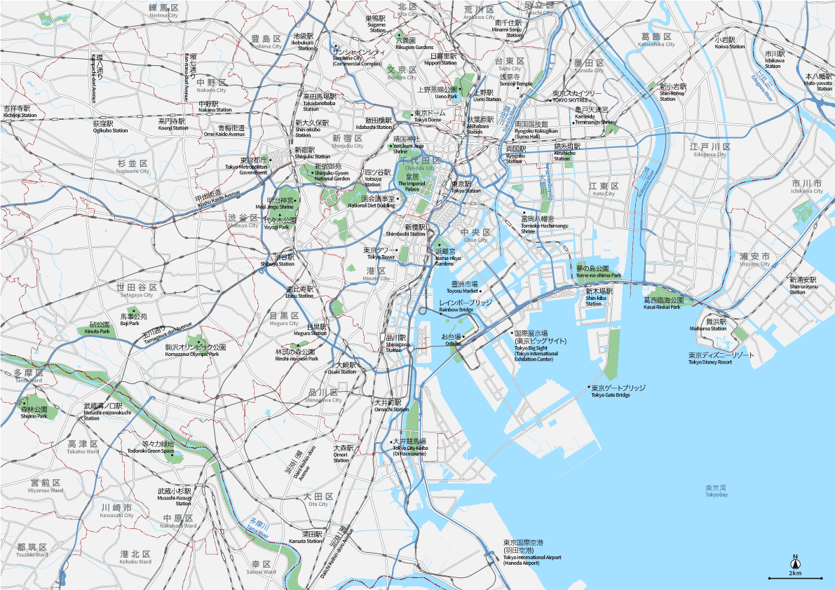 東京広域 地図素材