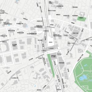 新宿 地圖素材