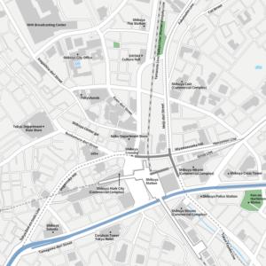 Tokyo Shibuya Vecter map