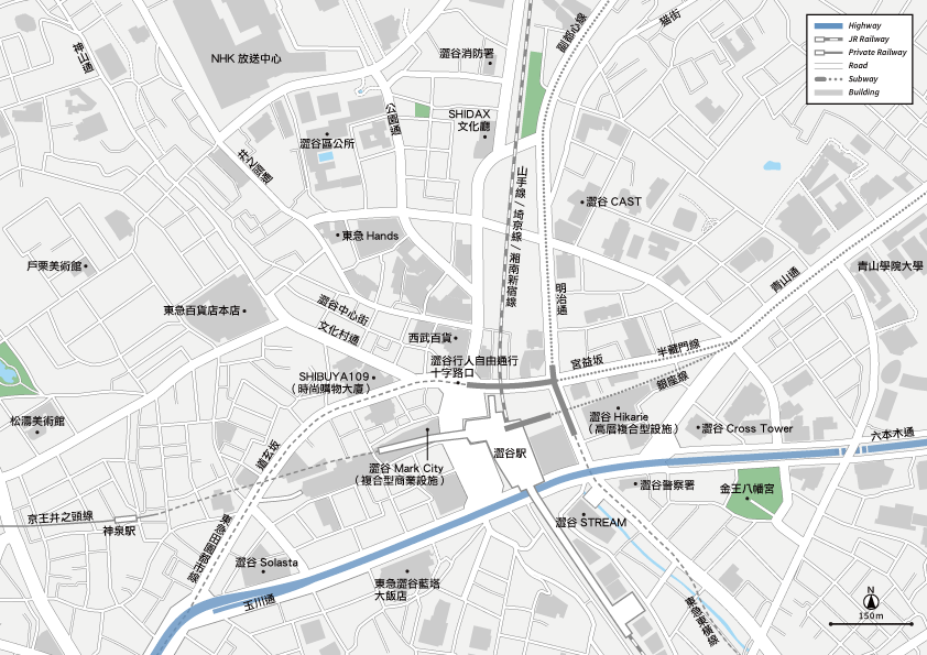 澀谷 地圖素材