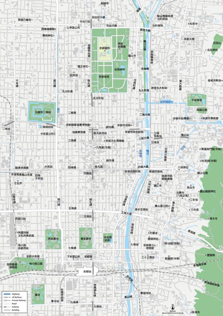 京都 地圖素材