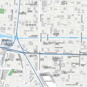 Osaka Namba Vecter map