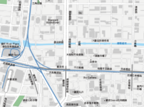 大阪難波 地圖素材