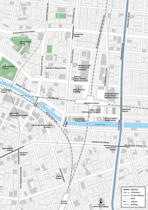 Tokyo Akihabara Vecter map