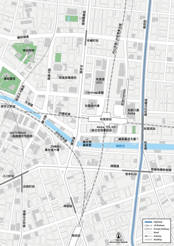 秋葉原 地圖素材