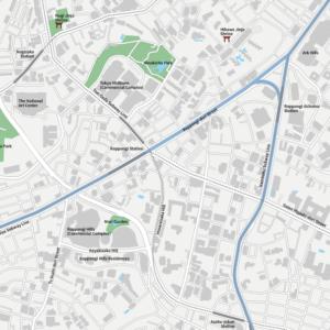 Tokyo Roppongi Vecter map