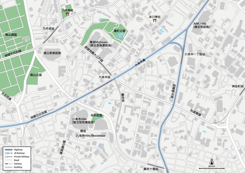 六本木 地圖素材