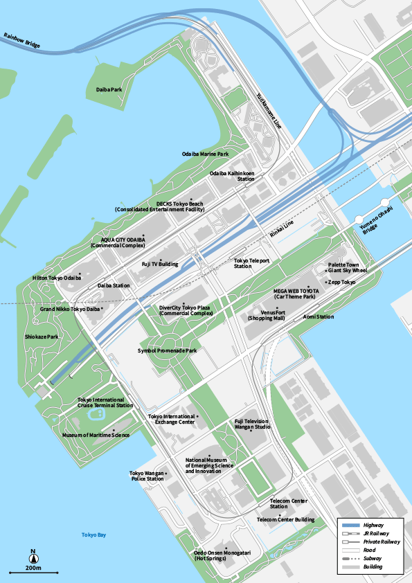 Tokyo Odaiba Vecter map