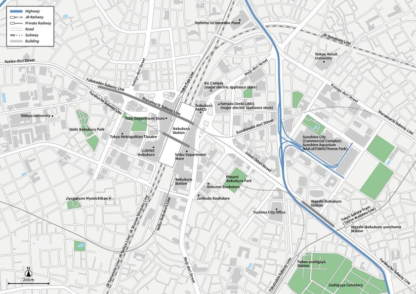 Tokyo Ikebukuro Vecter map