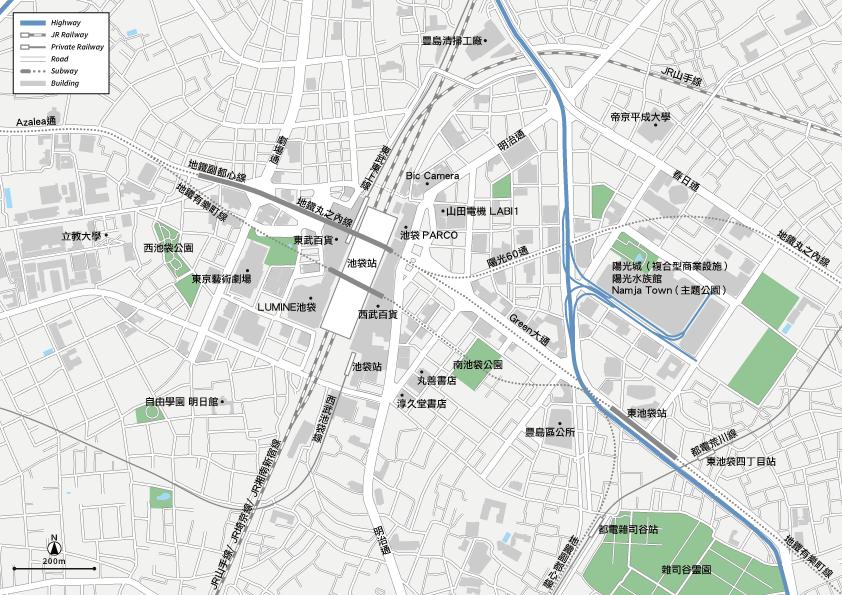 池袋 地圖素材