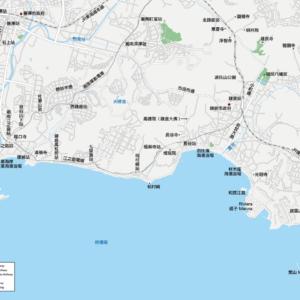 鎌倉 江之島 地圖素材