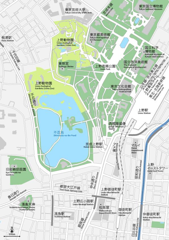 上野 地図素材