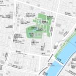 東京 浅草 地図素材