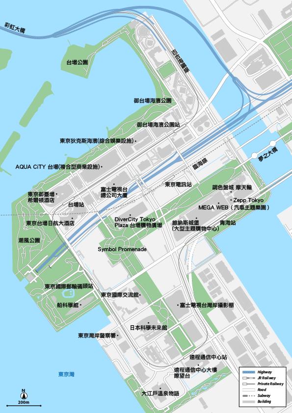 東京 御台場 地圖素材