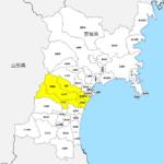 宮城県 市区町村別 白地図