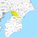 千葉県 市区町村別 白地図 素材