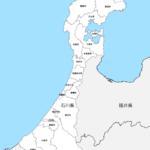 石川県 市区町村別 白地図