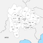 山梨県 市区町村別 白地図