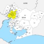 愛知県 市区町村別 白地図