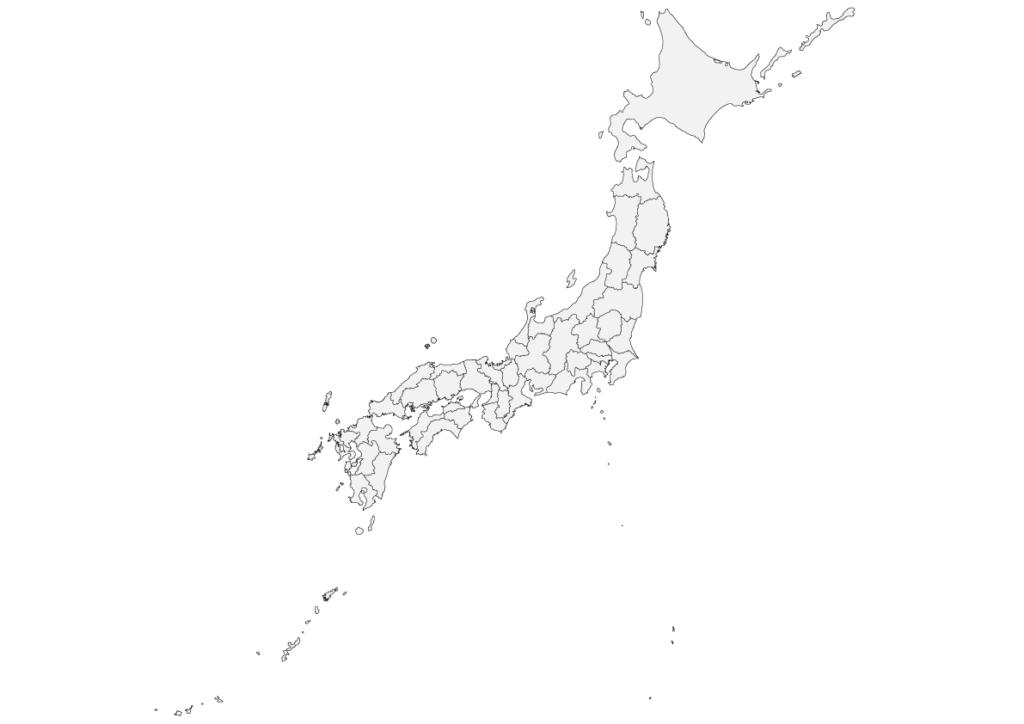 日本地図 フリー素材