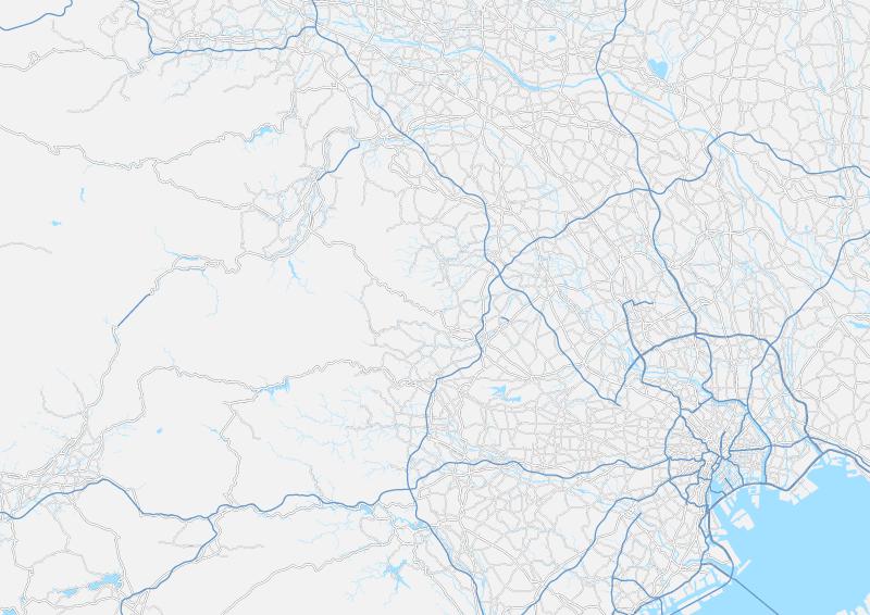 埼玉県(東京都含む) 地図素材