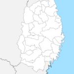 岩手県 白地図 市区町村界 フリー素材