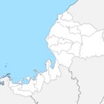 福井県 白地図 市区町村界 フリー素材