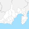 静岡県 白地図 市区町村界 フリー素材