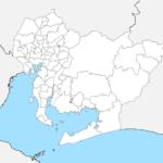 愛知県 白地図 市区町村界 フリー素材