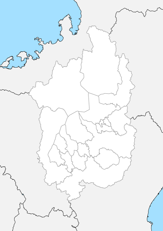 滋賀県 白地図 市区町村界 フリー素材