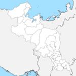 京都府 白地図 市区町村界 フリー素材
