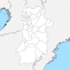 奈良県 白地図 市区町村界 フリー素材
