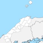島根県 白地図 市区町村界 フリー素材
