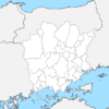 岡山県 白地図 市区町村界 フリー素材