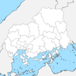 広島県 白地図 市区町村界 フリー素材