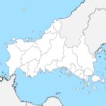 山口県 白地図 市区町村界 フリー素材