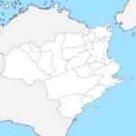徳島県 白地図 市区町村界 フリー素材
