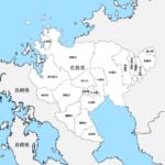 佐賀県 市区町村別 白地図